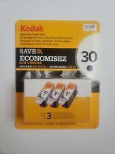 Kodak 30 Series Black Ink Cartridge - 3 Pack - New