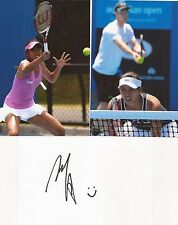 TENNIS: HAO-CHING CHAN SIGNED 6x4 WHITECARD+2 UNSIGNED PHOTOS+COA