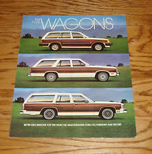 Original 1981 Ford Wagon Foldout Sales Brochure 81 LTD Fairmont Escort