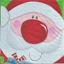 Christmas Party Supplies - Santa Print Christmas Lunch Napkins 2 ply 20pk