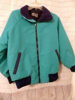 Women's Malden Polar Fleece Size S Small Waist Coat Full Front Zipper Green