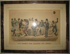Rare Historical Currier & Ives 1878 Darktown Litho Black Americana Horse Race