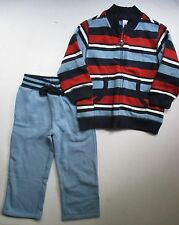 Gymboree Junior Racer Striped Zip Cardigan Blue Fleece Pants Set Boys 3T NEW NWT