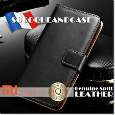 Etui Cuir Véritable housse coque Genuine Leather case Xiaomi Redmi Note 6 Pro
