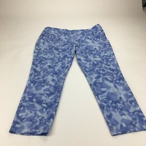 New Adidas Trousers Womens UK 18 Straight Leg Curvy Stretch Outdoor Cropped Golf
