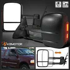 Ford 1997-2003 F150 Towing Trailer Telescoping Power Mirrors+LED Signal Lamp