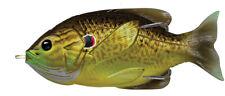 Live Target Sunfish Hollow Body SFH75T556 Bronze Pumpkinseed Topwater Lure Bait