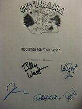 Futurama Signed TV Script Billy West Katey Sagal John DiMaggio David Herman rpnt