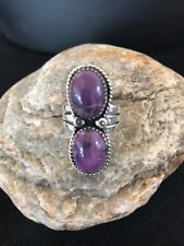 Navajo Sterling Silver Purple Charoite Ring Size 8.25 Gift Yazzie