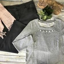 3 Pcs Womens Casual Outfit Lot Buffalo Jeans, Reitmans Sweater Size:XL -AC07