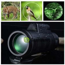Day&Night Vision Monocular 40x60 HD Optical Hunting Camping Hiking Teles w/Bag