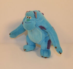 """2002 Plush Sully Sulley 5"""" Action Figure McDonald's EUROPE Disney Monsters Inc"""