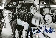 CARRIE FISHER SIGNED PHOTO. REPRINT. STAR WARS. HARRISON FORD. MARK HAMILL. JEDI