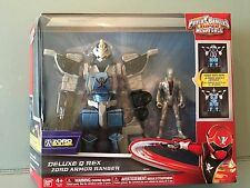 Power rangers super megaforce Deluxe Q Rex Zord armour ranger BNIB Rare toy