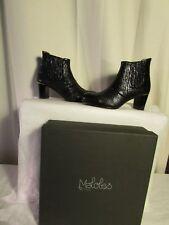boots/bottines MALOLES cuir façon reptile noir 40