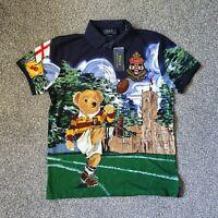 Polo Ralph Lauren Custom Slim Fit Kicker Polo Bear Polo Shirt Size Medium