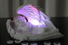 Deko Engel LED Beleuchtung liegend in Feder Farbwechsel Figur Engelchen