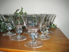 ICE CREAM DISHES/GOBLET GLASSES - SET OF 6 - VINTAGE