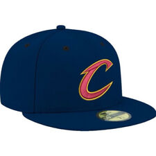 a63dc4c57 Cleveland Cavaliers Cavs C Logo Era Blue Fitted Hat 7 NBA Wade James Lebron