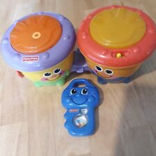 Set Of Two Fisher Price Baby/Toddler Toys ( One Bongo One Key ) Both Play Music