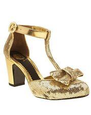 Red or Dead Tara Tango Chunky chaussures à talon avec nœud doré Taille UK 5 EU 38 NH01 70