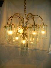 Great Vint. Forecast Lighting Mid Cent. Style Retro 60 Prism 10 Arm Chandelier