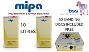 2 x 5LTR MIPA SILICONE REMOVER/PANEL WIPE (10L) COMES WITH 50 SANDING DISCS FREE