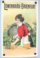 Altes Plakat Löwenbräu Baienfurt Brauerei Bier Werbung Papier Poster 20er