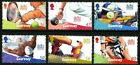 GUERNSEY 2010 GAMES SET OF ALL 6 COMMEMORATIVE STAMPS MNH