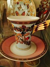 VERSACE CUP SAUCER SET coffee tea LE JARDIN LIGHT BLUE NEW Retail $300