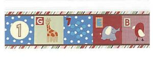 Alphabet Soup Wallpaper CoCaLo Baby Infant Border Nursery HTF Zoo Decorate NEW