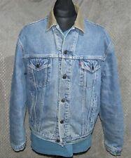Vintage LEVI'S Denim Trucker Jacket Blanket Lining Large