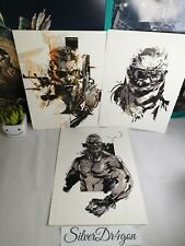 Metal Gear Solid 5 V 3x Lithographs Official Art Works