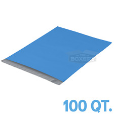 100 10x13 Blue Poly Mailers Envelopes Bags 25mil From The Boxery