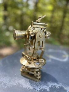 Vintage Antique Brass Theodolite-Transit Surveyors Survey Instrument