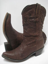 DURANGO Women BROWN SOFT CRINKLED LEATHER Slouchy Western BOOTS ~ Sweet Pair! 6M