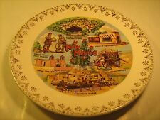 """7"""" Porcelain Collector Plate New Mexico Carlsbad Pueblo Indians [Z40]"""