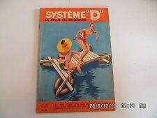 SYSTEME D N°137 05/1957 CASIER A BOUTEILLE ABRI DE JARDIN BAC A FLEURS   D85