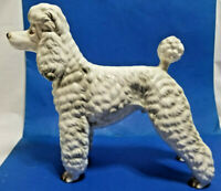 Poodle Dog Figurine 1950s Large Standing White