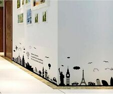 Wall Sticker Decal New York City Statue of Liberty, Eiffel Tower, Home Decor