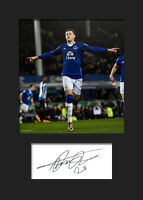 ROSS BARKLEY - (EVERTON) Signed Photo A5 Mounted Print (Reprint) - FREE DELIVERY