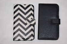 CELL PHONE WALLET CASE Samsung Galaxy S4 LOT Black & ZIGZAG Design