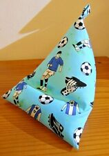 iPAD Cushion BeanBag Kindle Ereader Phone Mini iPad BLUE FOOTBALL COTTON Fabric