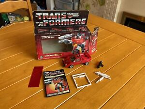 BOXED Transformers G1 Sideswipe 1984 - Complete - Good Condition