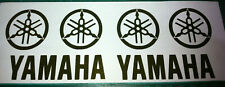 4 X  GOLD CHROME  YAMAHA FORKS   VINYL DECAL STICKERS    40mm