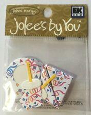 KID BIRTHDAY WARE Embellishments (6pc)Jolee's•Party•Napkin •Plates•Cup•Cake•Mini