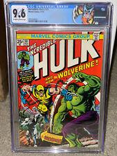Hulk #181 CGC 9.6 1974 1st Wolverine! See centering! 180 & 182 trio 915 cm clean