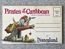 Vintage Disneyland Pirates of the Carribean Book 12 colorful scenes postcard