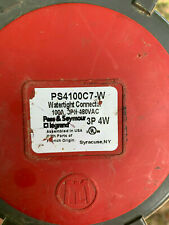 PS4100C7W Pass & Seymour 100 Amp 480V 3 Phase 4 Wire Watertight Connector