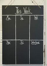 Shabby Chic Weekly Planner A4 Chalkboard Ornate 30cm x 21cm Memo Blackboard
